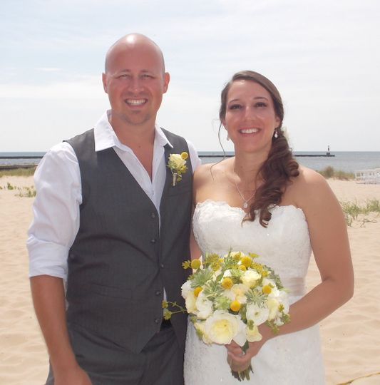 Frankfort beach wedding