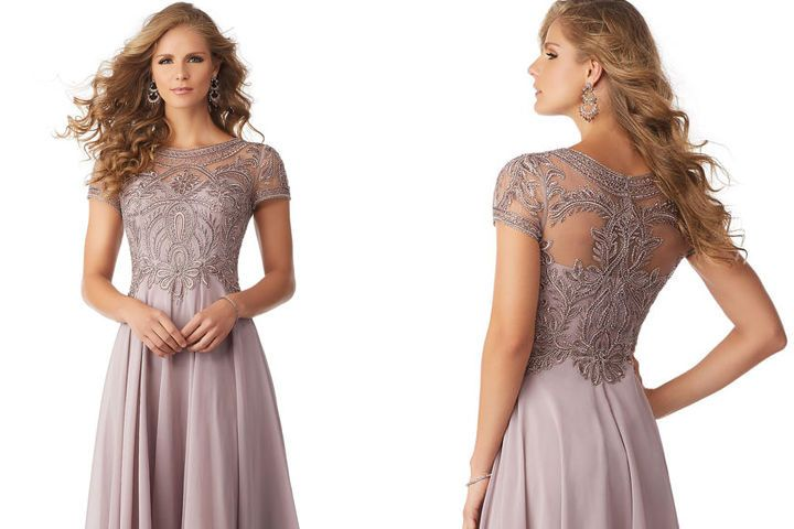Front and back details of gown