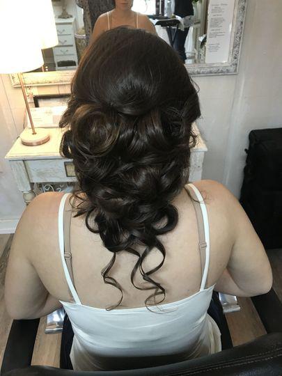 Tucked in curls