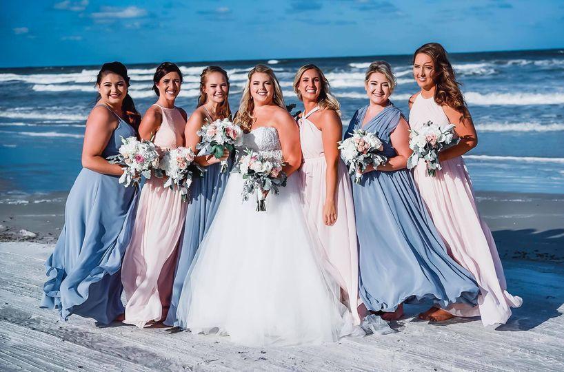 Beach Bridal Party