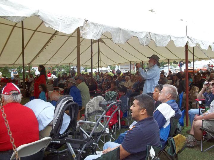 under powwow tent