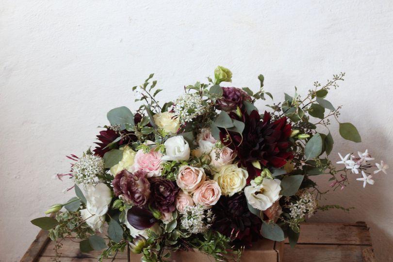 Dark colored bouquet