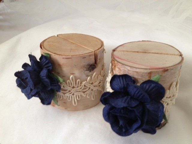These are a deep navy blue - perfect for a rustic barn wedding or a beach wedding. They are so...