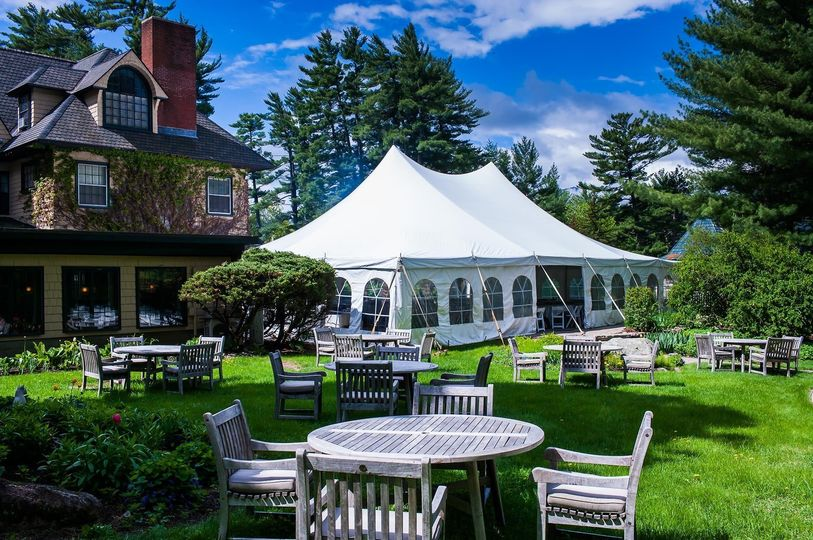 Marquee reception and gardens