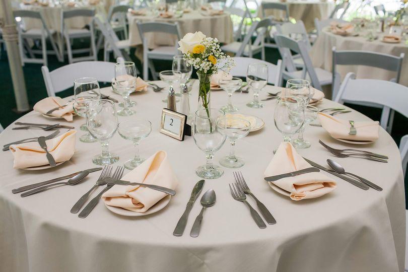 Classic table setting