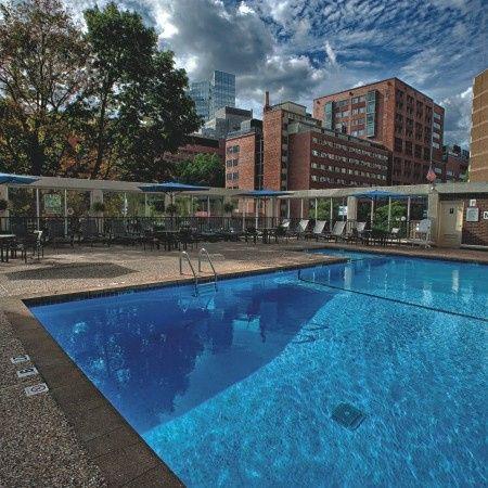 Swimming pool area of Wyndham Boston Beacon Hill