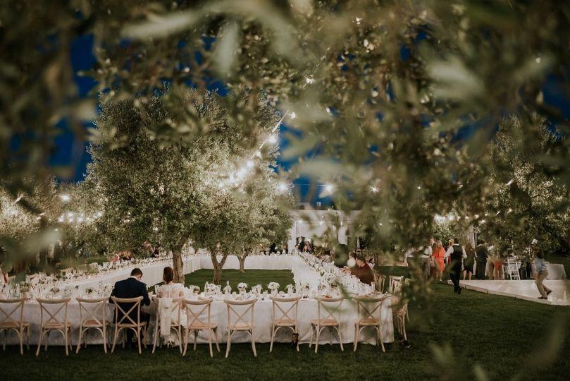Puglia wedding reception