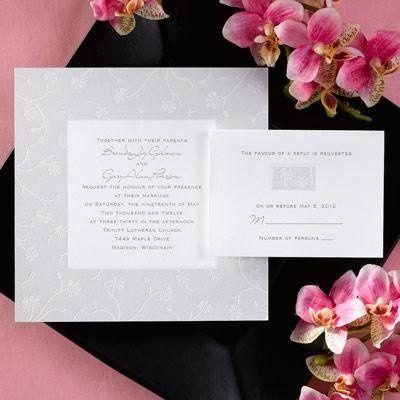 Clean grey invite