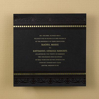 Black and gold invite
