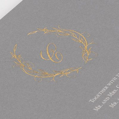Gold detailing on invite