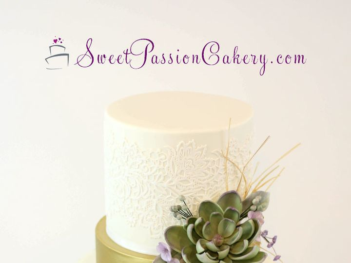 Tmx 1502191395112 Mintsucculentcake Warren wedding cake