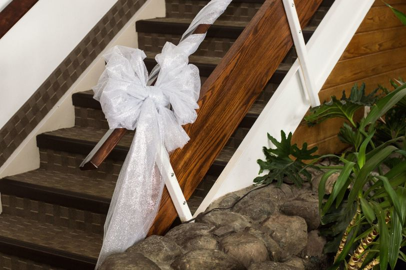 Decor on the staircase