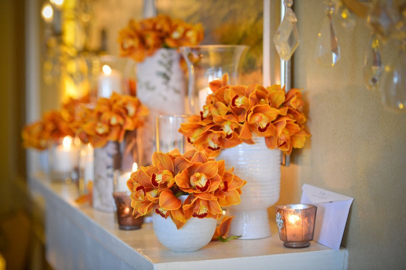 Decor accents from the floral and decor design team at Pebble Beach Resorts