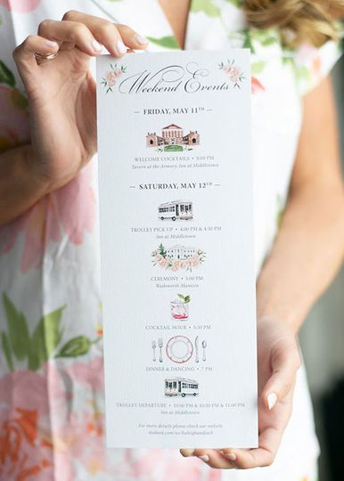Watercolor Events Card