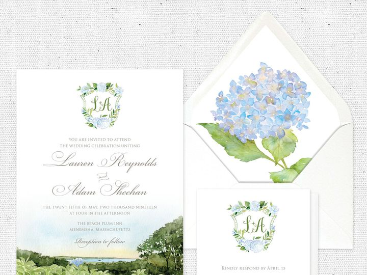 Tmx Capecodhydrangeasuite 51 584436 Albany, NY wedding invitation