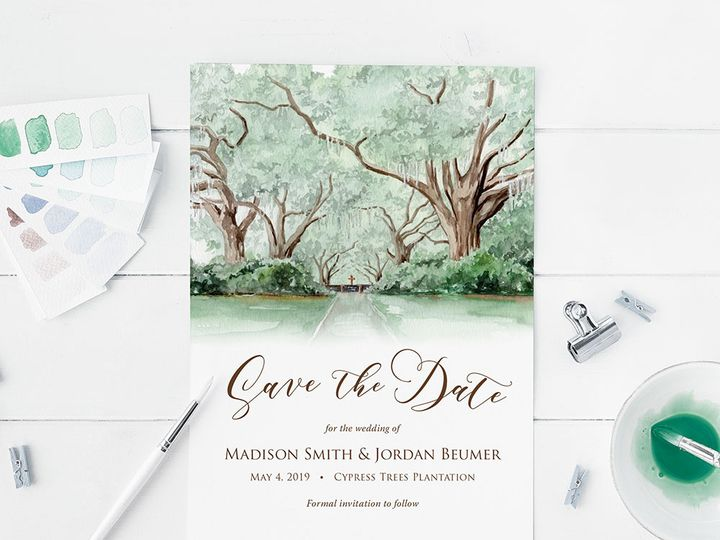 Tmx Cypresssavethedate 51 584436 Albany, NY wedding invitation
