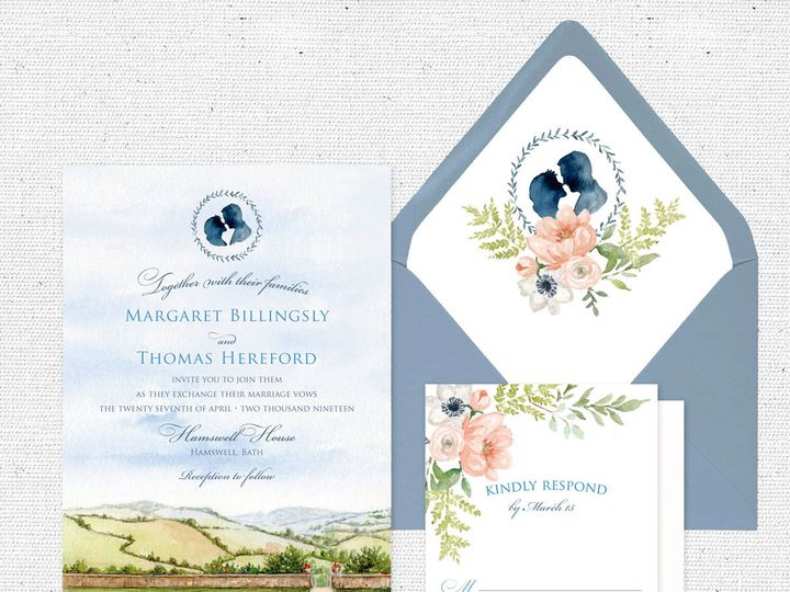 Tmx Englishcountryromancesuite 51 584436 Albany, NY wedding invitation