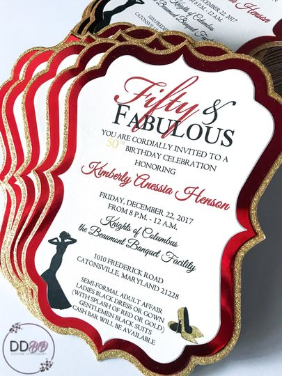 Flat card style invitations