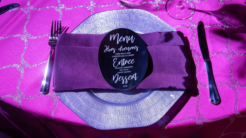 Mirrored Menu Card