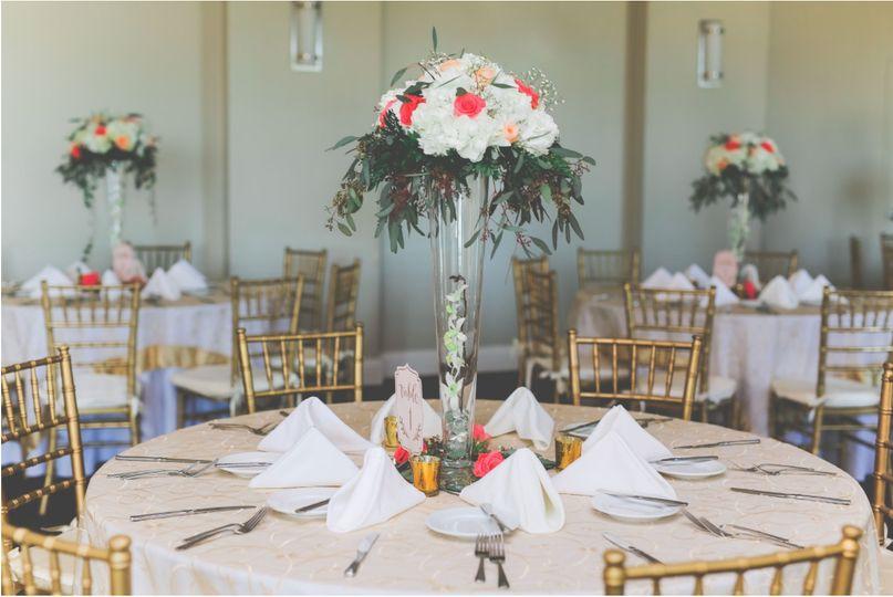 Table display at Madison Green
