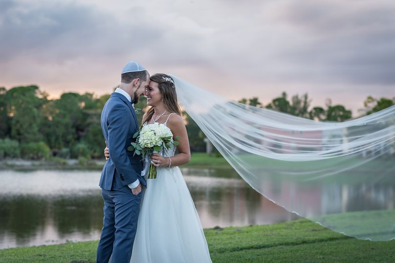 Lakeside ceremony & sunset