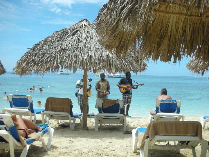 Music on the beach