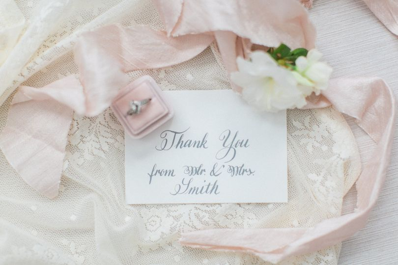 romantic gray invitation