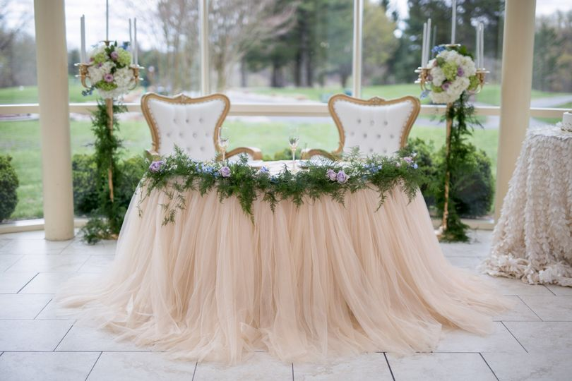 Sweetheart table linens