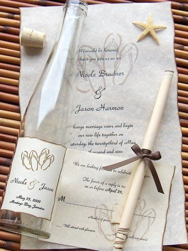Although it is quite beautiful, the Beachcomber Message in a Bottle ® invitation will surely tempt...