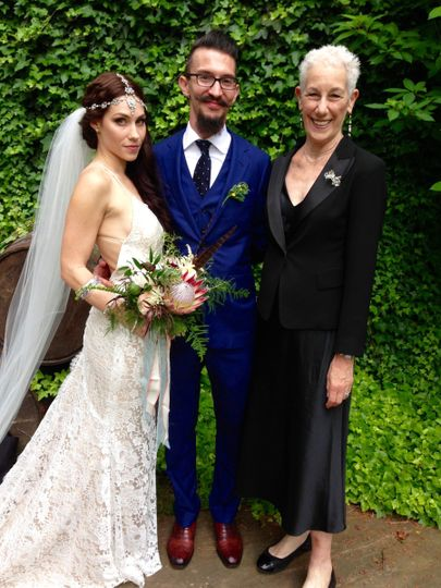 Officiant and the couple
