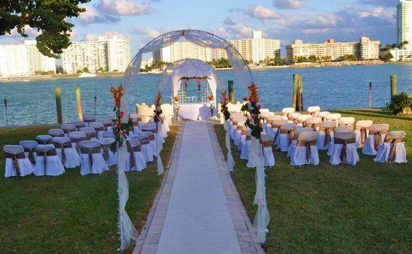 One of a kind outdoor ceremony and reception!