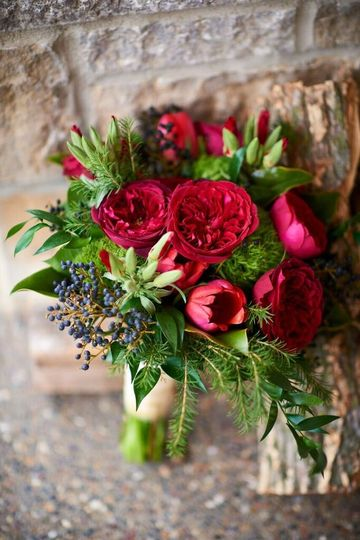 Deep Red and Navy Wedding
