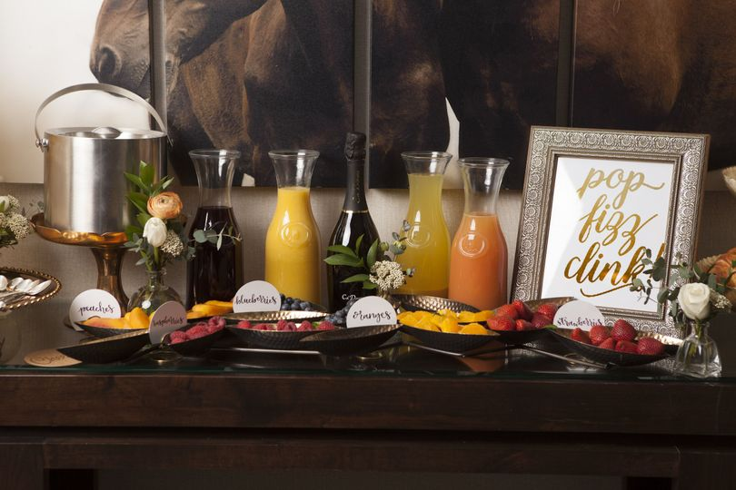 But First, Brunch! Enjoy our mimosa bar package with your bridesmaids on the Terrace before the...