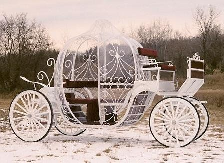 Cinderella Carriage. Also Vis-a-Vis Waggonette and Others.  Reindeer sleigh rides.