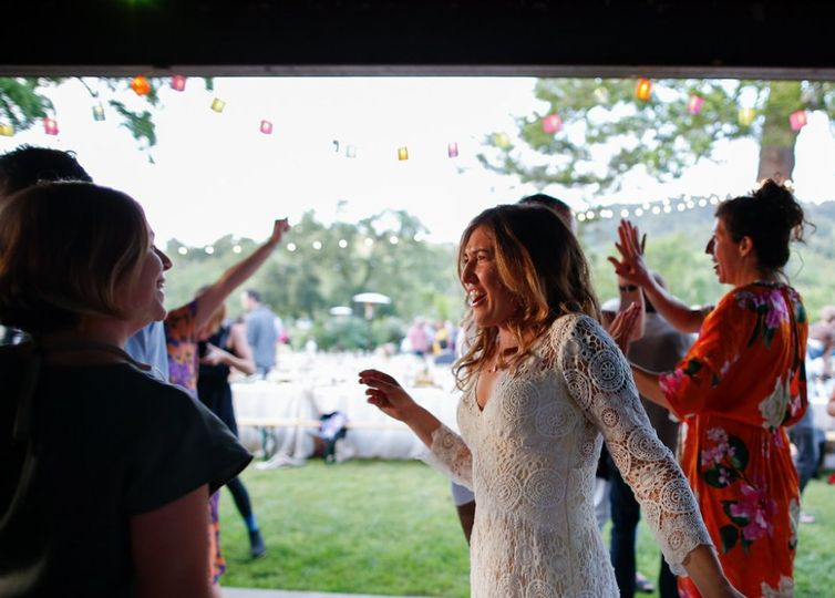 Front Porch Farm in Healdsburg - dancing the night away