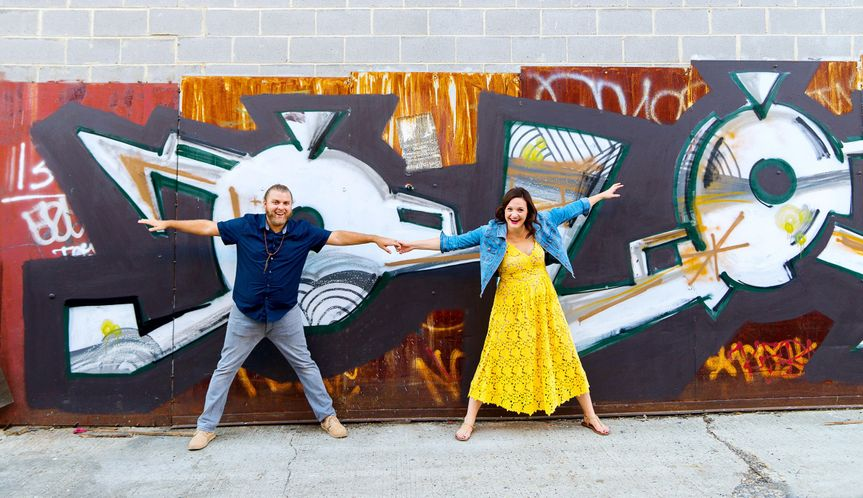 Union Market and H street engagement session