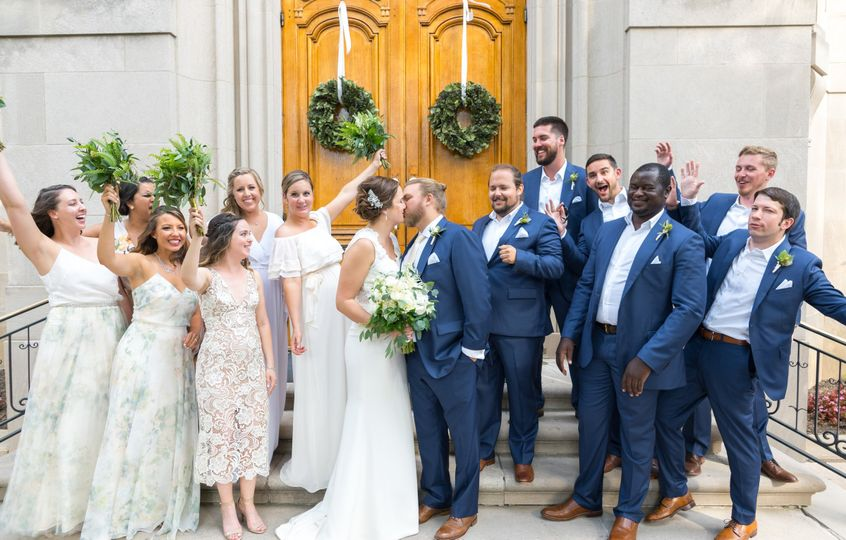 Meridian House bridal party
