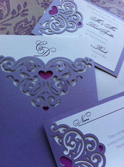 Lavender heart design