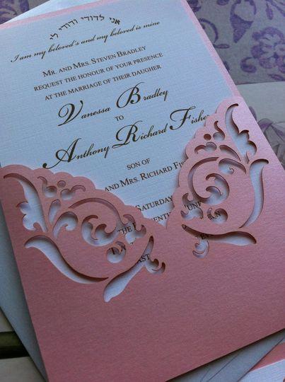 Old rose invitation