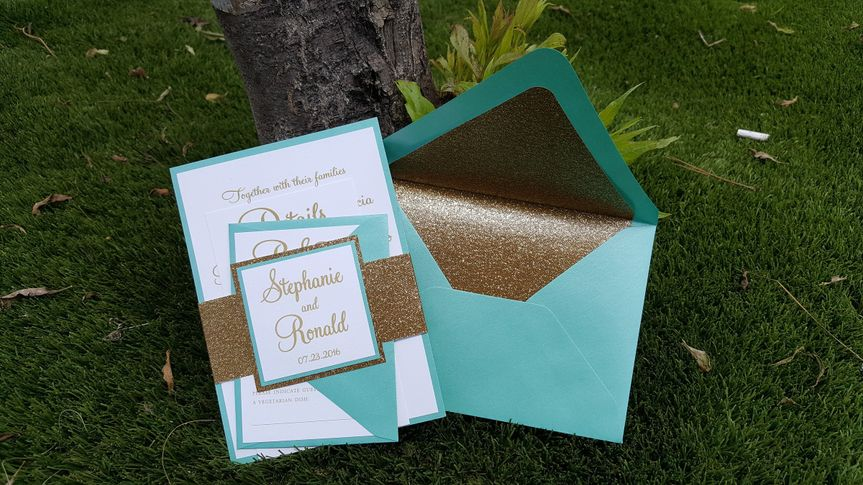 Turquoise invitation