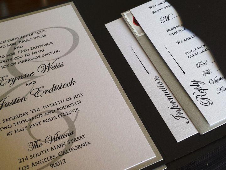 Tmx 1428416654591 20140430145328 Huntington Beach, CA wedding invitation