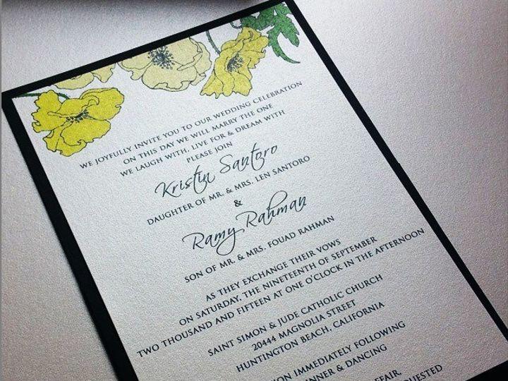 Tmx 1437330663967 11745317101534936262327106435047562590508300n Huntington Beach, CA wedding invitation