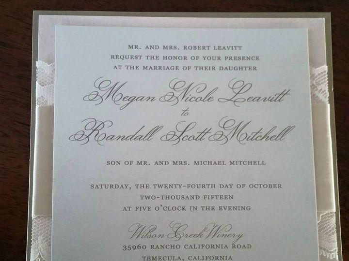Tmx 1437330702937 11109283101534084513527107270898184854213934n Huntington Beach, CA wedding invitation