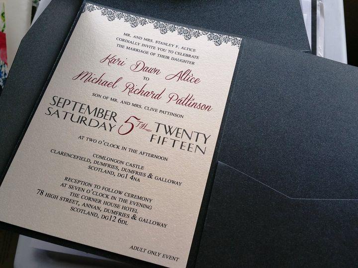 Tmx 1437330930726 11041866101532289376077108194230458727844982o Huntington Beach, CA wedding invitation