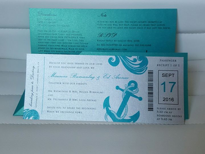 Tmx 1507822525578 20160706163526 Huntington Beach, CA wedding invitation