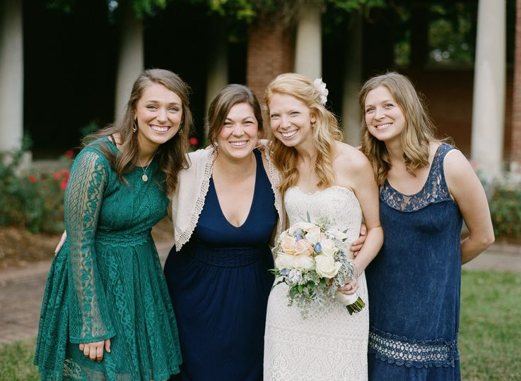 Bride with her guests