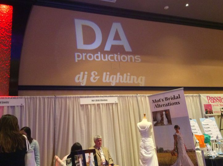 Our name up in lights at the Bridal Showcase 2015 Tulalip Hotel & Casino