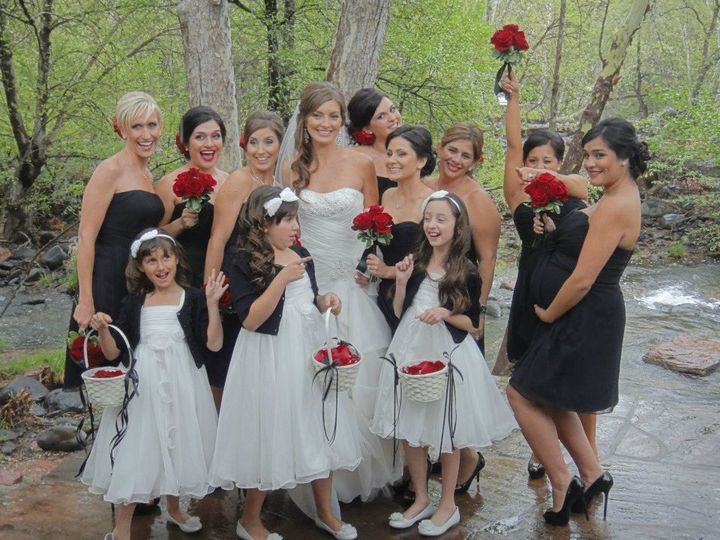 The bride and their guests