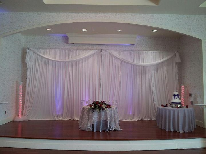 Tmx 1342557608287 Pipeanddrapetampabackdropslightingweddingtampapipeanddrape Tampa wedding eventproduction
