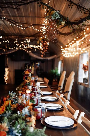 The fall tablescape